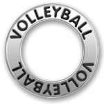 Pewter Volleyball Affirmation Ring Image