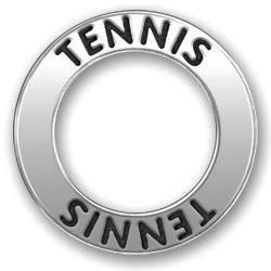 Pewter Tennis Affirmation Ring Image