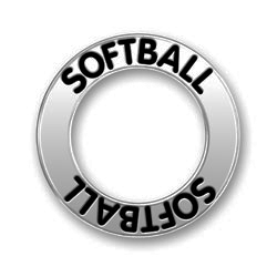 Pewter Softball Affirmation Ring Image