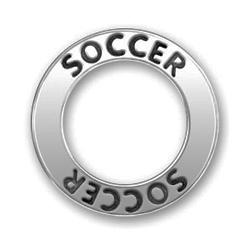 Pewter Soccer Affirmation Ring Image