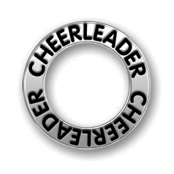Pewter Cheerleader Affirmation Ring Image