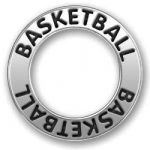 Pewter Basketball Affirmation Ring Image