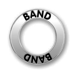 Pewter Band Affirmation Ring Image