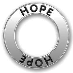 Pewter Hope Affirmation Ring Image
