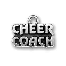 Pewter Cheer Coach Charm Image