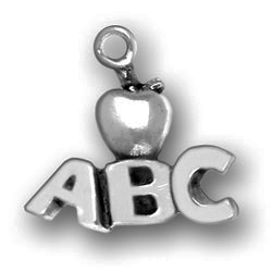 Pewter Abcs With Apple Charm Image