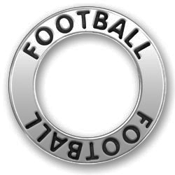 Pewter Football Affirmation Ring Image