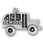 Pewter School Bus Charm Image