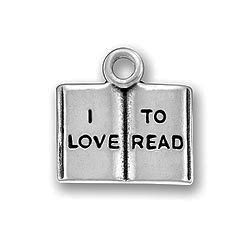 Pewter I Love To Read Charm Image
