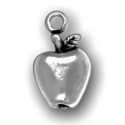 Pewter Apple For The Teacher Charm Image