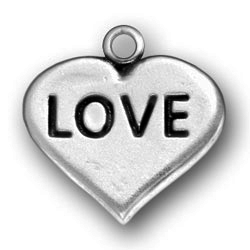 Pewter Heart Love Charm Image