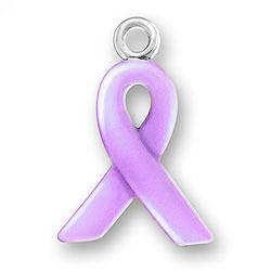 Lavender Enamel Ribbon Charm Image