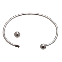 Silver Plated 6mm Cuff Bracelet Image