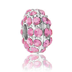 Baby Pink Rhinestone Bead Image