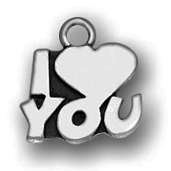 Pewter I Heart You Charm Image