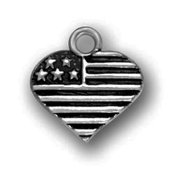 Pewter Heart Shaped Flag Image