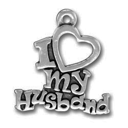 Pewter I Heart My Husband Charm Image