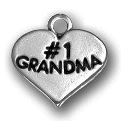 Pewter Heart With 1 Grandma Image