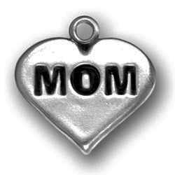 Pewter Heart With Mom Image