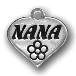 Pewter Heart With Nana Image