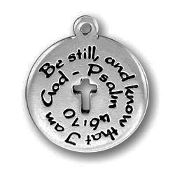 Pewter Be Still And Know That I Am God Image