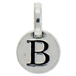 Round Pewter B Charm Image