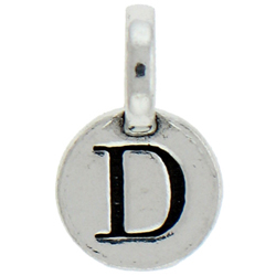 Round Pewter D Charm Image