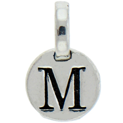 Round Pewter M Charm Image