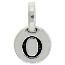 Round Pewter O Charm Image