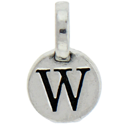 Round Pewter W Charm Image