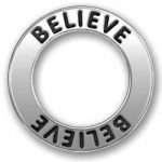 Pewter Believe Affirmation Ring Image