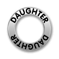 Pewter Daughter Affirmation Ring Image