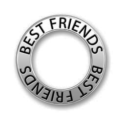 Pewter Best Friends Affirmation Ring Image