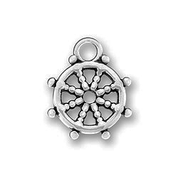 Pewter Sailing Wheel Charm Image