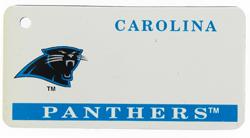 Custom Engraved Carolina Panthers Key Tag Image