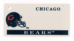 Custom Engraved Chicago Bears Key Tag Image