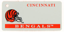 Custom Engraved Cincinnati Bengals Key Tag Image
