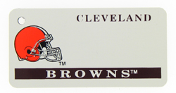 Custom Engraved Cleveland Browns Key Tag Image