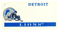 Custom Engraved Detroit Lions Key Tag Image