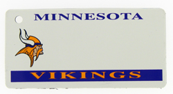 Custom Engraved Minnesota Vikings Key Tag Image