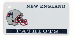 Custom Engraved New England Patriots Key Tag Image