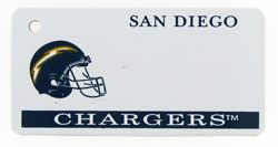 Custom Engraved San Diego Chargers Key Tag Image