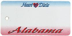 Custom Engraved Alabama Key Tag Image