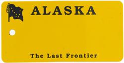 Custom Engraved Alaska Key Tag Image