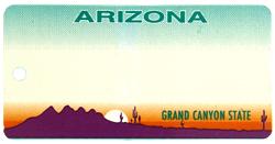 Custom Engraved Arizona Key Tag Image