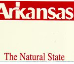 Custom Engraved Arkansas Key Tag Image