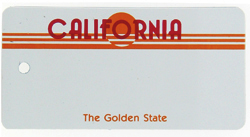 Custom Engraved California Key Tag Image