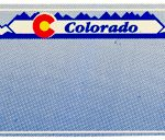 Custom Engraved Colorado Key Tag Image