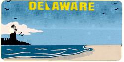 Custom Engraved Delaware Key Tag Image
