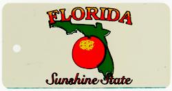 Custom Engraved Florida Key Tag Image
